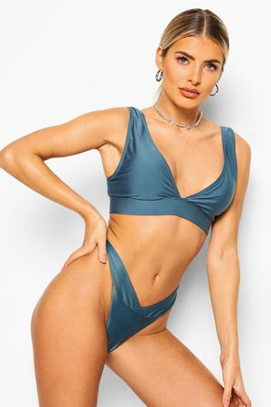 Boohoo Womens Essentials V Front Hipster Bikini Brief - - 2