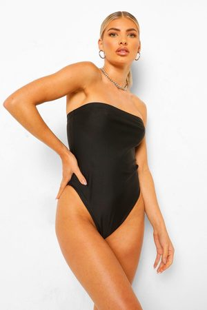 Boohoo Womens Essentials Bandeau Bathing Suit - - 2