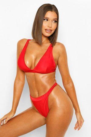 Boohoo Womens Essentials Fuller Bust Plunge Bikini Top - - 34Dd