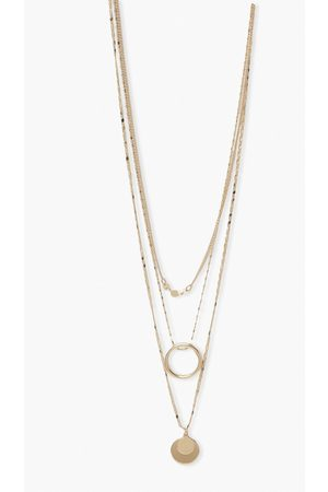 adidas Womens Double Coin Layered Necklcae - - One Size