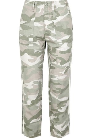 Mother Women Jeans - Shaker camouflage cotton-blend trousers