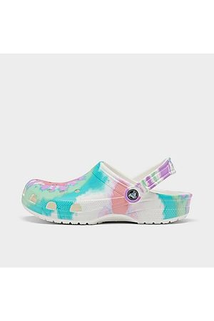 Crocs Men Clogs - Classic Tie-Dye Graphic Clog Shoes in Size 6.0