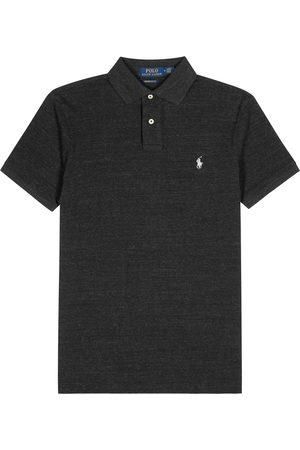 Polo Ralph Lauren Charcoal slim piqué cotton polo shirt
