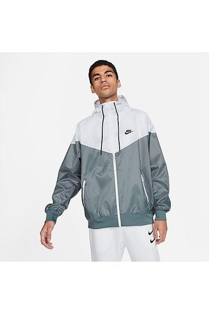 Nike Men's Sportswear Windrunner Woven Hooded Jacket in /Grey Size Small 100% Polyester/Fiber