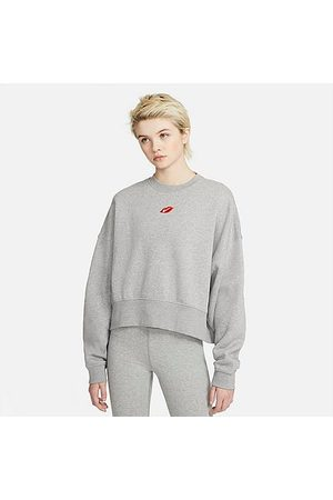 Nike Women's Sportswear Lips Crew Sweatshirt in Grey Size X-Small Fleece