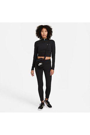 Nike Women's Sportswear Emea Ribbed Crop Leggings in Size X-Small Polyester/Spandex