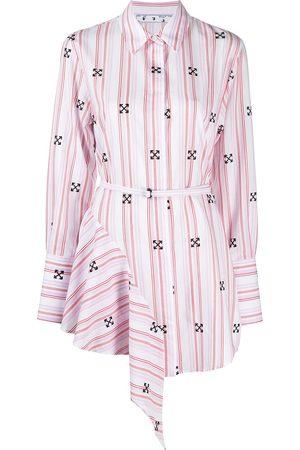 OFF-WHITE Asymmetric Arrow shirt dress