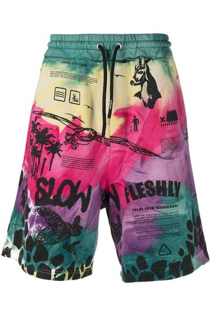 MAUNA KEA Men Shorts - Timing is Everything tie-dye shorts