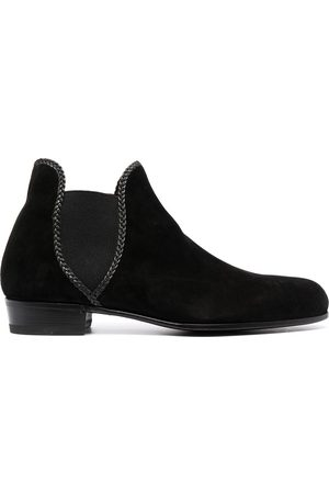 LIDFORT Braided-trim ankle boots