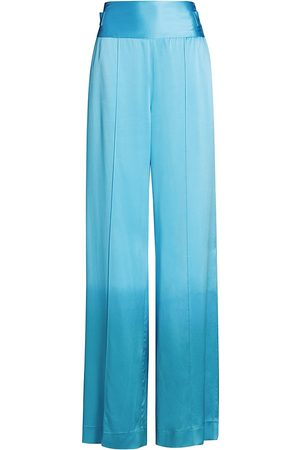 Alejandra Alonso Rojas Women's Full-Leg Satin Pants - Bright - Size 0