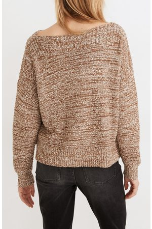 Madewell Women's Boat Neck Side Button Sweater