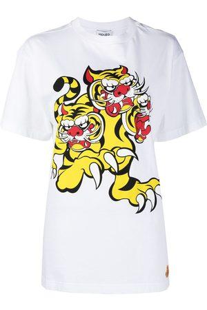 Kenzo Women T-shirts - X Kansai Yamamoto Three Tigers T-shirt