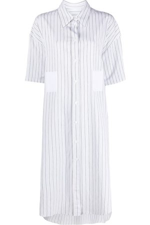 MM6 MAISON MARGIELA Women Casual Dresses - Striped pocket-detail shirt dress