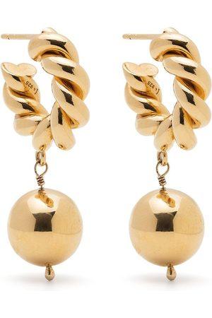 Isabel Lennse Twisted loop earrings