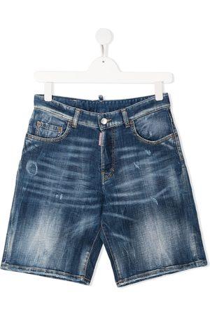 Dsquared2 Shorts - TEEN mid-wash denim shorts