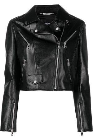 Dolce & Gabbana Calf leather biker jacket