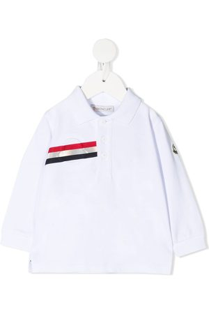 Moncler Logo-stripe polo shirt