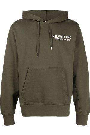 Helmut Lang Logo print hooded sweatshirt