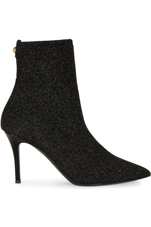 Giuseppe Zanotti Pointed leather glitter ankle boots
