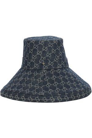 Gucci Gg Denim Lamé Brimmed Hat