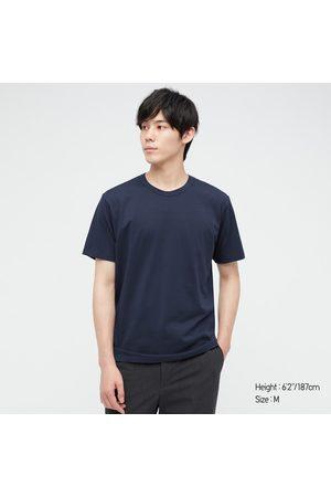 UNIQLO Men Short Sleeve - Men's Airism Cotton Crew Neck Short-Sleeve T-Shirt, , XS