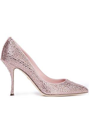 Dolce & Gabbana Women Pumps - Woman Lori Crystal-embellished Satin Pumps Rose Size 37