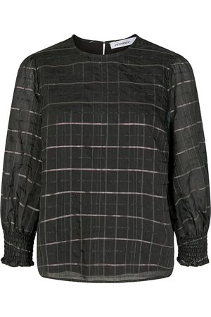 Co`Couture Cocouture Luu Checked Smock Blouse