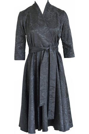 Anna Etter Cotton Jacquard Midi Dress Jacquelyn