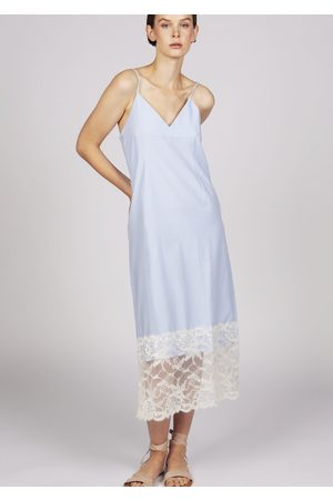 MARAINA LONDON MARION light cotton lace midi-dress