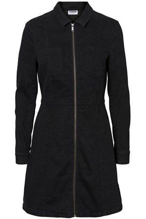 Noisy May Lisa denim zip dress, Colour: