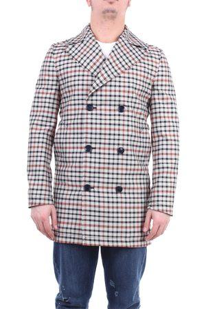 GREY DANIELE ALESSANDRINI Gray Daniele Alessandrini multicolor trench coat