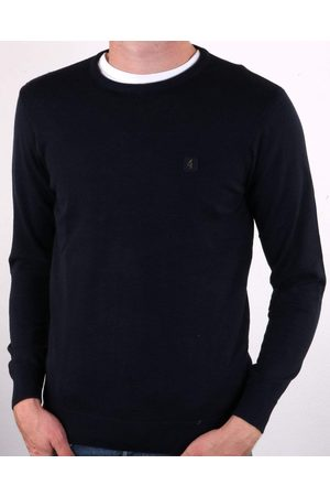 Gabicci Cole Navy Knitted Crew-Neck Jumper