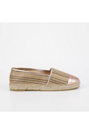 Kanna OUTLET Dora Combi Metallic Toe Espadrille Colour: Rose Gold, Siz