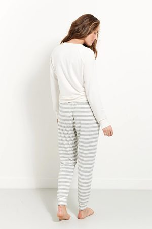 Stripe and Stare Stripe & Stare Lounge Pant Grey Stripe
