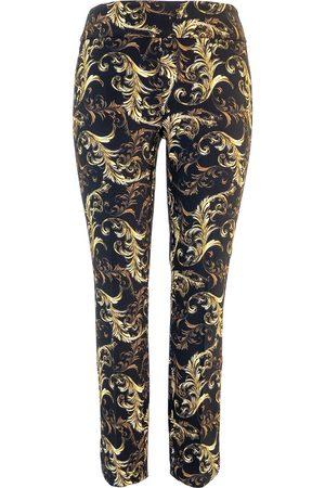 """Up Pants 67027 Techno 28"""" Leg Petal Slit Trousers - Valentino"""