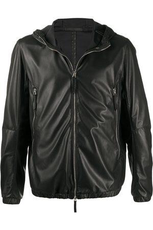Giuseppe Zanotti Hooded leather jacket