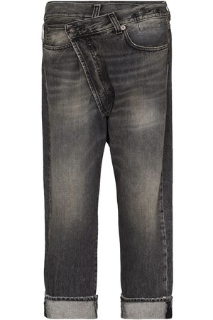 R13 Stonewashed straight-leg jeans