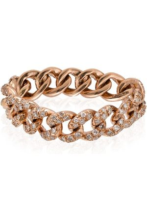 Shay 18kt rose chain link ring - METALLIC