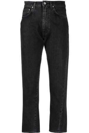 Totême High-waisted cropped jeans - Grey