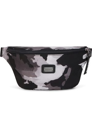 Dolce & Gabbana Logo-plaque camouflage-pattern belt bag