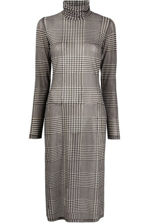 MM6 MAISON MARGIELA Check print mesh dress