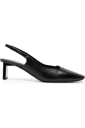 1017 ALYX 9SM Textured leather slingback pumps