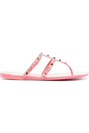 VALENTINO GARAVANI Women Sandals - Rockstud T-bar strap sandals