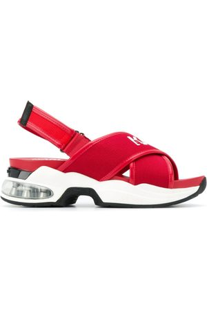 Karl Lagerfeld Cross strap sporty sandals