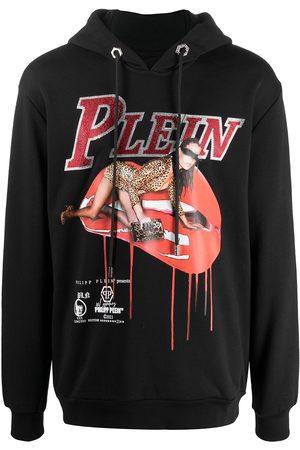 Philipp Plein Graphic-print rib-trimmed hoodie