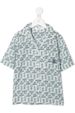 BONPOINT Ornamental-print short-sleeve shirt