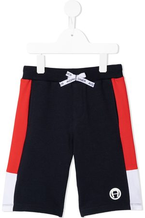 Aigner Logo patch shorts
