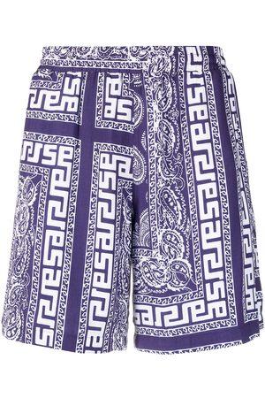 ARIES Paisley-print shorts