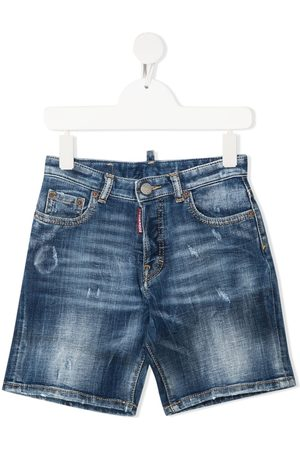 Dsquared2 Mid-wash denim shorts