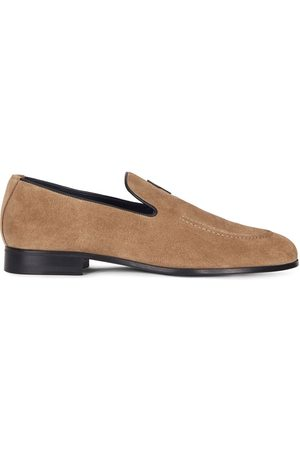 Giuseppe Zanotti G-flash suede slippers - Neutrals